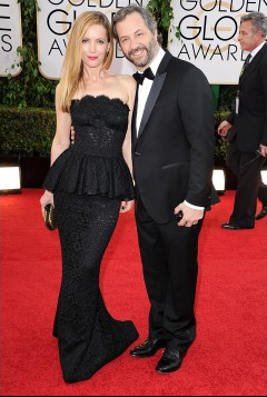 Leslie Mann in D&G with Judd Apatow