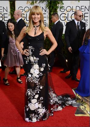 Heidi Klum in Marchesa.